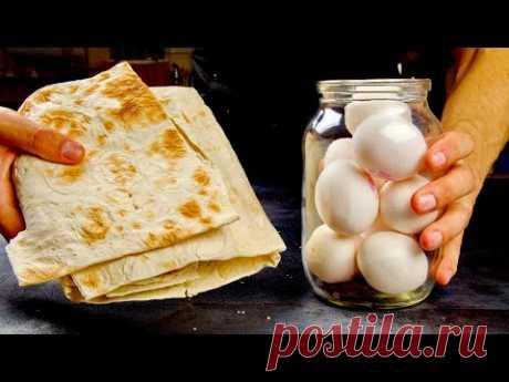 Простой лаваш и банка яиц! Вкуснее шаурмы и проще всяких пицц!