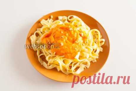 La salsa de la calabaza para los macarrones la receta de la foto, como preparar la salsa magra de la calabaza para los macarrones en Webspoon.ru