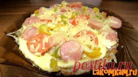 Оригинальная пицца на сковороде (затраты 50 рублей). Пицца без теста. Супер рецепт