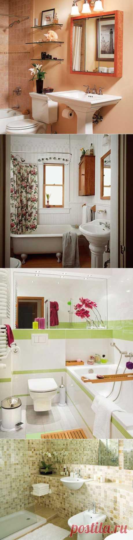 Дизайн маленькой ванной комнаты: чтобы не было тесно