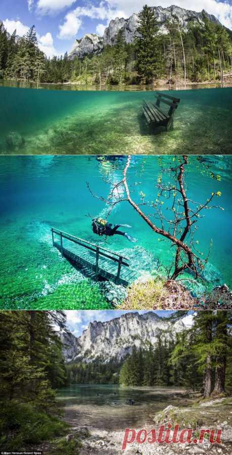 Поразительный подводный парк в Австрии.
