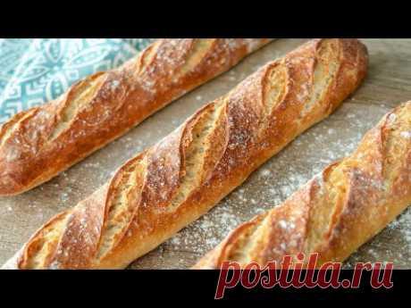 ФРАНЦУЗСКИЙ БАГЕТ | очень вкусный домашний хлеб | простой рецепт теста | выпечка