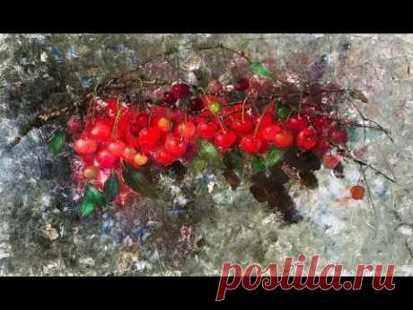 Как нарисовать Спелую вишню? Магия красных ягод