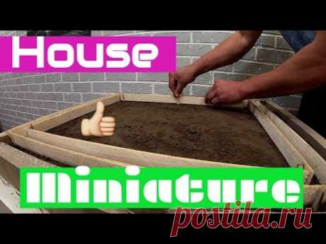 Life in miniature!!! /House in miniature!!!/Make the foundation!!! - YouTube