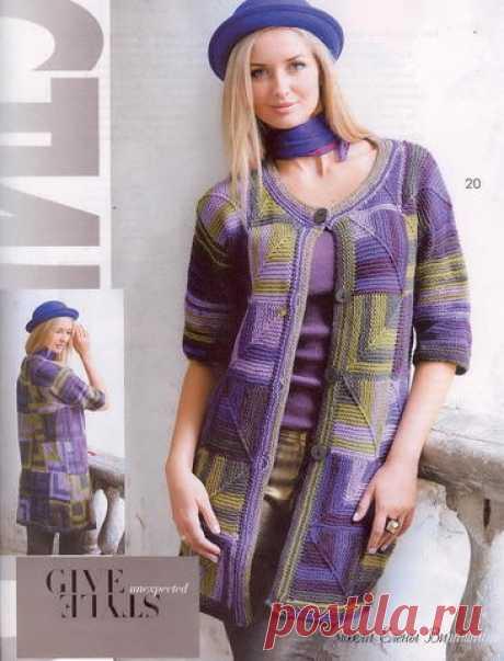 Яркий стильный жакет спицами   Вязание и рукоделие