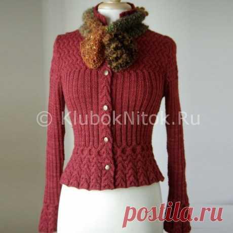 Кардиган и шарф | Вязание для женщин | Вязание спицами и крючком. Схемы вязания.