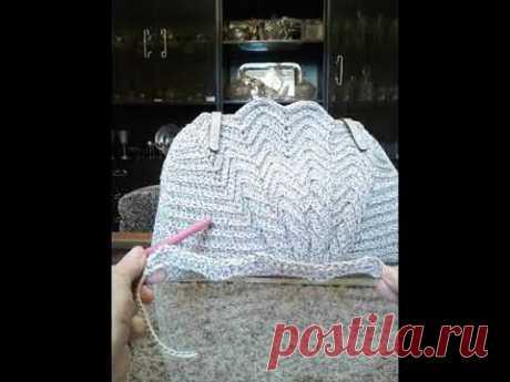 Sea shell crochet bag