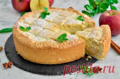 Яблочный пирог с заварным кремом рецепт с фото пошагово и видео - 1000.menu