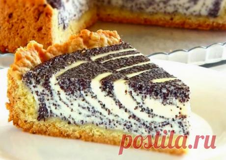 Как приготовить творожный, нежный пирог с маком | Интересные рецепты | Яндекс Дзен