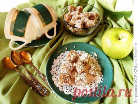 Рахат-лукум из яблок с грецкими орехами - пошаговый рецепт приготовления с фото