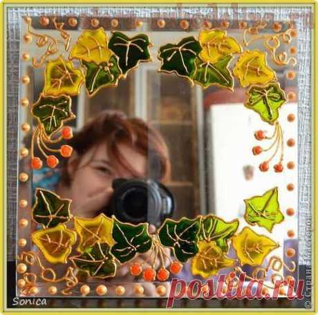 Мастер-класс по декорированию: Витраж и зеркало