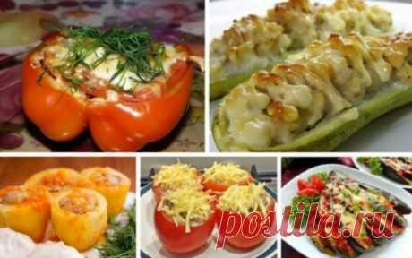 5 рецептов фаршированных овощей на любой вкус Интересная подборка рецептов.
