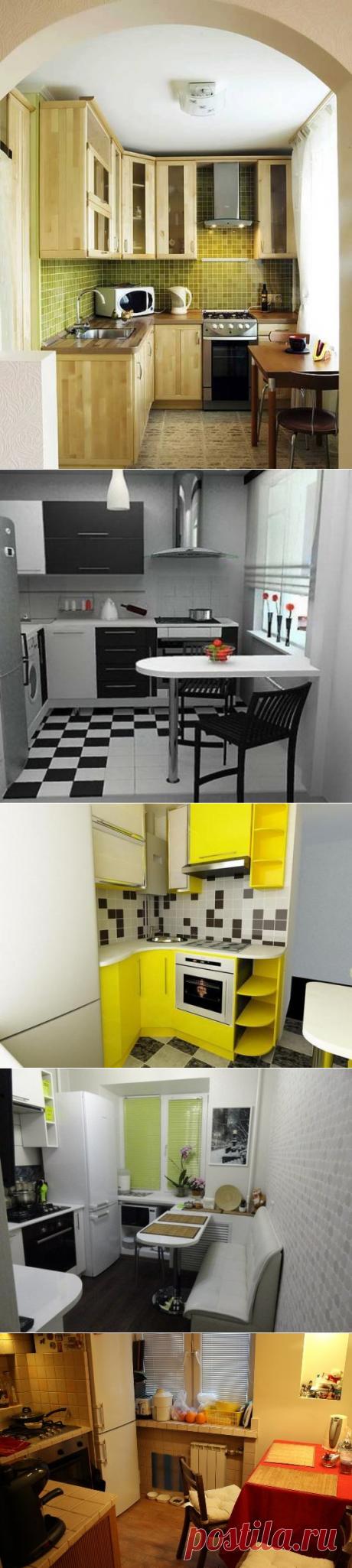 Идеи интерьера и дизайн маленькой кухни в хрущевке - фото | семиделка.ру