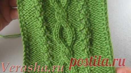 Красивая коса с ажурными дорожками   Вераша - о вязании в деталях   Яндекс Дзен