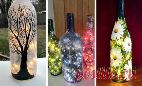 25 креативных идей для использования стеклянных бутылок после праздников.