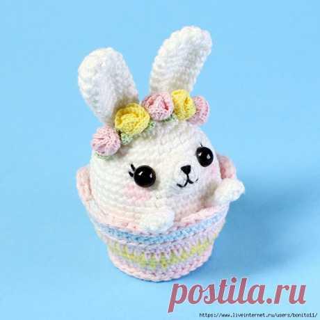 Пасхальный кролик в корзинке. Автор Эмили Фриман...