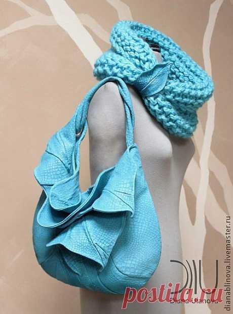 Шарф 1 - тёмно-синий,однотонный,разноцветный шарф,необычный шарф,теплый шарф