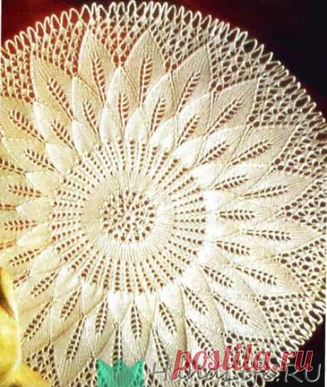 2 красивые салфетки спицами / Вязание спицами
