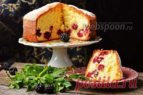 Шарлотка с ежевикой рецепт с фото, как приготовить на Webspoon.ru