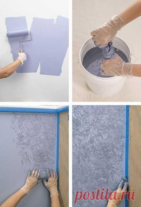 Интересные идеи при покраске стен