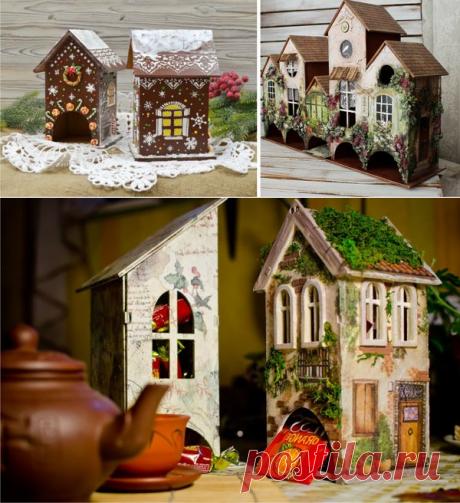 Чайный домик из картона: мастер класс, идеи   картонный бум   Яндекс Дзен