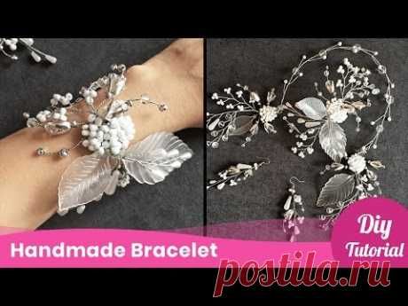 How to Make Bracelet with Beads. Jewelry Craft Idea