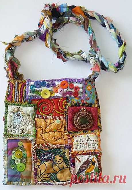 Scrappy bags in style a patchwork — ideas for inspiration