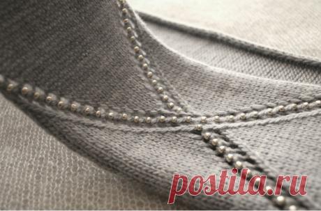 """Вязание с бусинами: два простых способа - Блог интернет-магазина """"Мир Вышивки"""""""