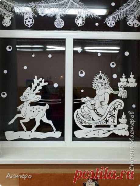 We decorate windows by New year