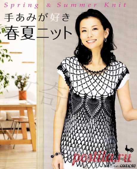 Японский журнал по вязанию Ondori spring summer knit 2009