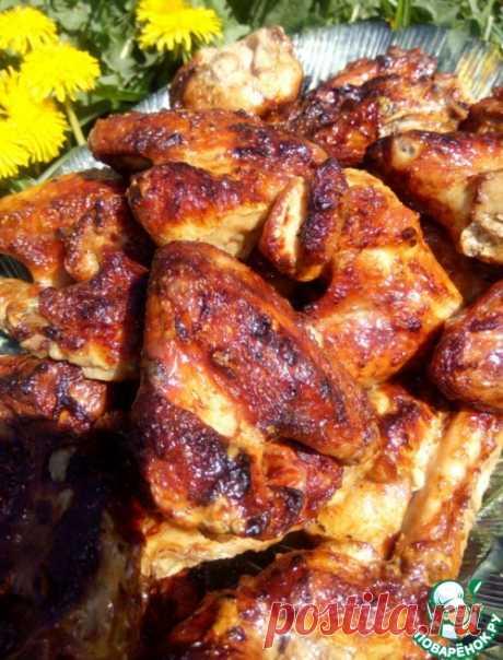 Шашлык из куриных крыльев – кулинарный рецепт