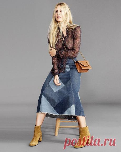 Отбираем у мужа джинсы и шьем себе на лето - шикарную юбку! Идеи переделки старых вещей! | Юлия Жданова | Яндекс Дзен