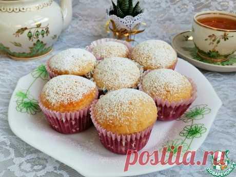 Бисквитные яблочные кексы Кулинарный рецепт
