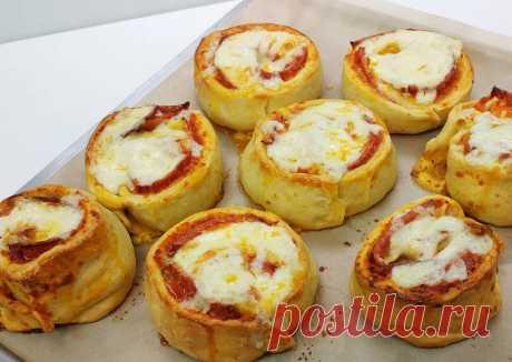 (9) Пицца-ролл - вкусно, быстро и оригинально - пошаговый рецепт с фото. Автор рецепта LoveCooking.ru🏃♂️ . - Cookpad