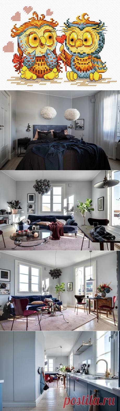 Красивый скандинавский дом в синих тонах - Дизайн интерьеров | Идеи вашего дома | Lodgers