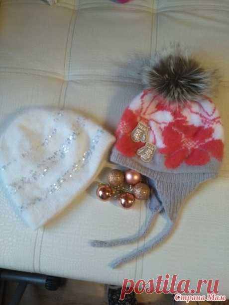 Шапочки спицами в подарок - Вязание - Страна Мам