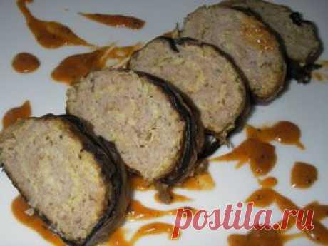 Кабачково-мясной рулет с баклажанами. Рецепт c фото, мы подскажем, как приготовить!