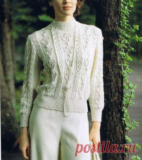 Три белых джемпера с узорным рисунком - 3 Кофты,свитера,пуловеры - Женская одежда - Каталог альбомов - SANA петелька