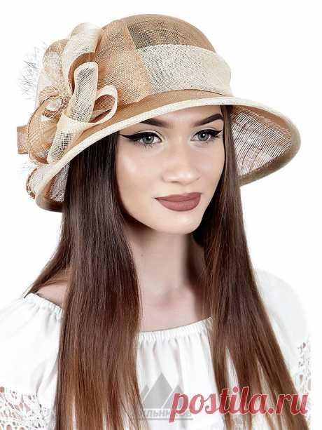 Шляпа Габриэлла - Женские шапки - Из соломки купить по цене 3390 р. с доставкой в Интернет магазине Пильников