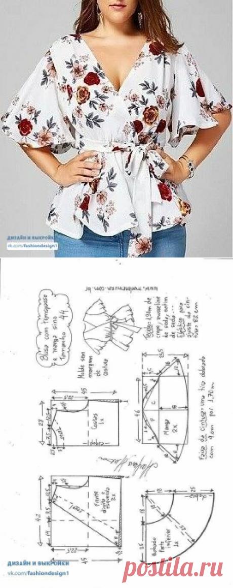 Выкройка блузы с запахом / Простые выкройки / ВТОРАЯ УЛИЦА
