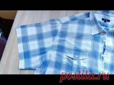 Как укоротить рукава в мужской рубашке и сделать цельнокроеный манжет