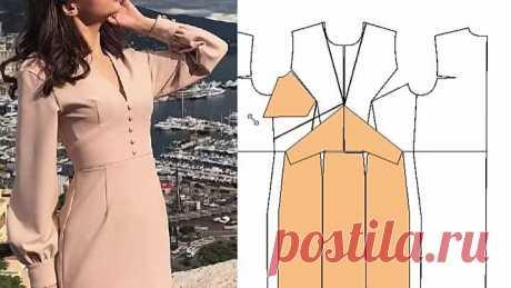 Платье с подрезом. Моделирование (1)