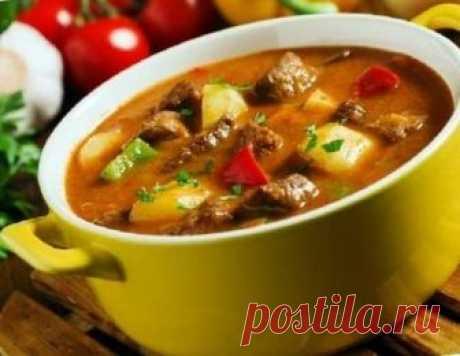 Суп - гуляш - вкусный, густой, согревающий! | Вперед✔огород | Яндекс Дзен