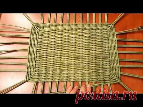 Плетем сундучок из газет 1! Плетение прямоугольного дна! Запись трансляции!