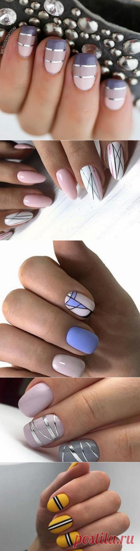 Стильный маникюр с полосками: модные идеи дизайна ногтей | Ногти и макияж
