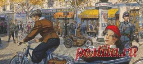 Перед вами один из самых красивых комиксов XXI века. История о любви, которая разворачивается на фоне войны — в Париже 1944 года, во времена немецкой оккупации. В тюремной камере оказываются участница французского Сопротивления Жанна и мелкий жулик Франсуа. Встреча героев становится началом увлекательного и в то же время опасного приключения. Вас ждет бег по парижским крышам, путешествие по рекам и каналам Франции, поиск пропавшей сестры, которая, возможно, попала в плен… И множество…