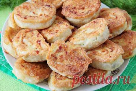 Жареные рулетики из лаваша с сыром ⋆ Кулинарная страничка