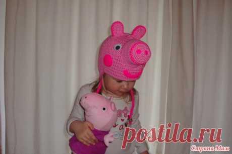 "*Шапочка ""Свинка Пеппа"" - Вязание для детей - Страна Мам"