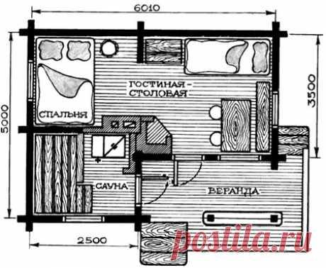 Проекты и планировка дома с печкой 6х6, 7х7, 8х8, 6х8 и других размеров - строительство