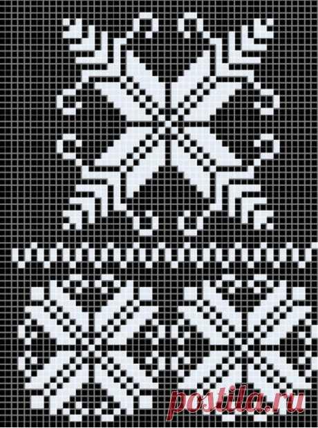 Схема снежинки спицами